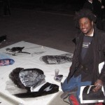 A talented fellow who was doing chalk paintings on the sidewalks down by the Thames.