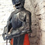 A lovingly preserved set of armor in the castle in the town of Belcastel.