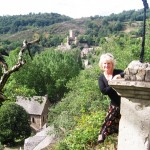 Overlooking the beautiful village of Belcastel