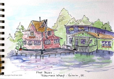 Boathouses, or Floathouses here in Canada – it'd be an interesting life, but perhaps a bit damp and mildewy?