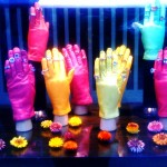 A lovely colorful window display near Sloane Square